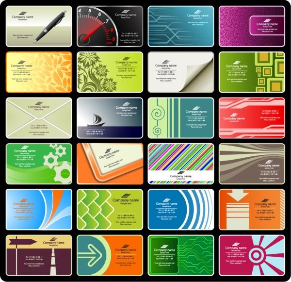 ビジネス向け名刺テンプレート vector business card templates