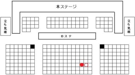 西鉄ホール座席図ブログ用160704a