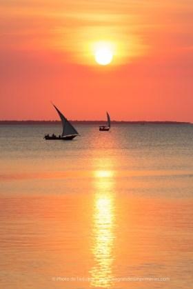 Magnifique coucher de soleil collection Tanzanie / Impression Carte de voeux