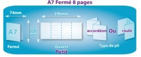 Les différents types de dépliants ou plaquettes 4 volets 3 plis en image & format