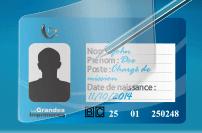 Carte de fidélité sécurité plastique rabat de protection