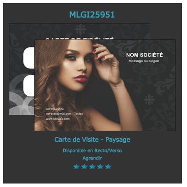 Modèle à personnaliser sur notre site pour salon de coiffure ou mode.
