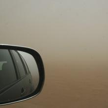 Sandsturm in der  Wüste Marokkos