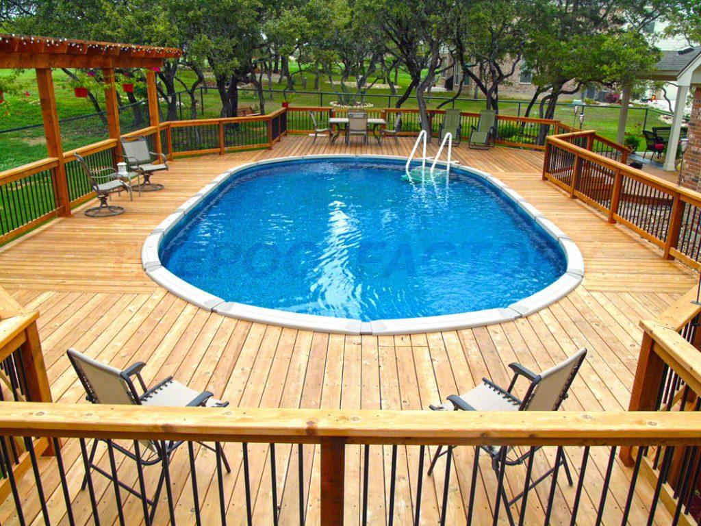 Pool Deck Ideas (Full Deck) - The Pool Factory on Patio Ideas Around Pool id=86790