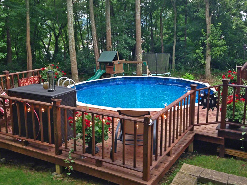 Pool Deck Ideas (Partial Deck) - The Pool Factory on Pool Deck Patio Ideas  id=36494