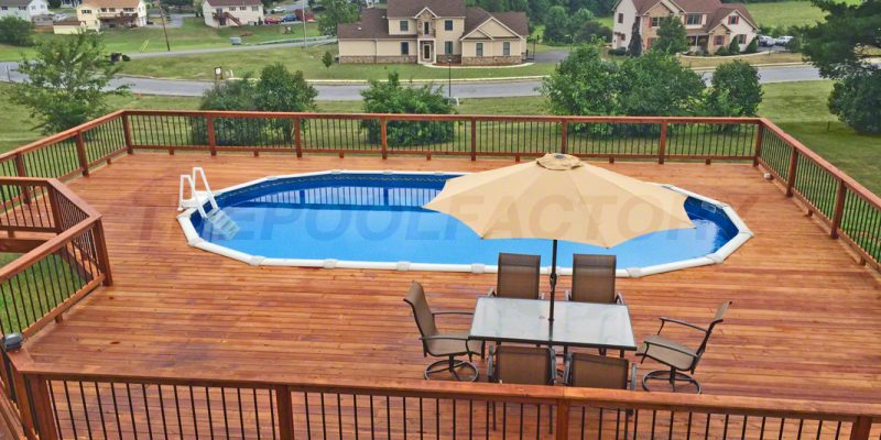 Pool Deck Ideas (Full Deck) - The Pool Factory on Pool Deck Patio Ideas id=89367