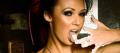 camilla jayne from babestation gets naked and squirts cream all over herself