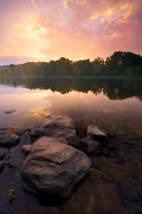 Red sunset  Delaware at Worthington State Park Blog