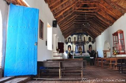 Eglise de San Pedro de Atacama. Désert d'Atacama. Chili.