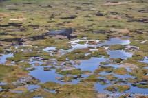 Le cratère Rano Kau, à côté du village d'Orongo.
