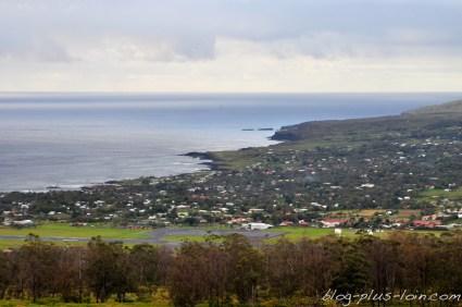 Le village de Hanga Roa, à Rapa Nui.