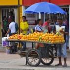 Vendeur de fruits à Carthagène.