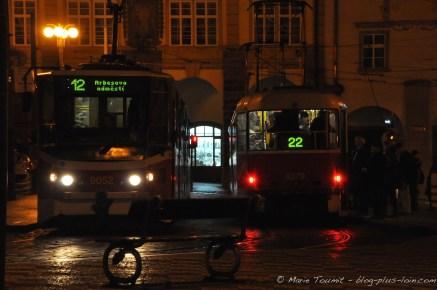 Tramways à Malá Strana.