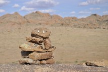 Des petits cairns à Baga gazriyn chuluu.