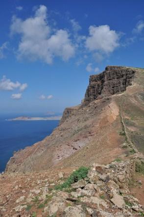 Falaise à Haría, à Lanzarote (Canaries).