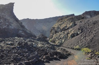 Lanzarote : vers la cratère del Cuervo