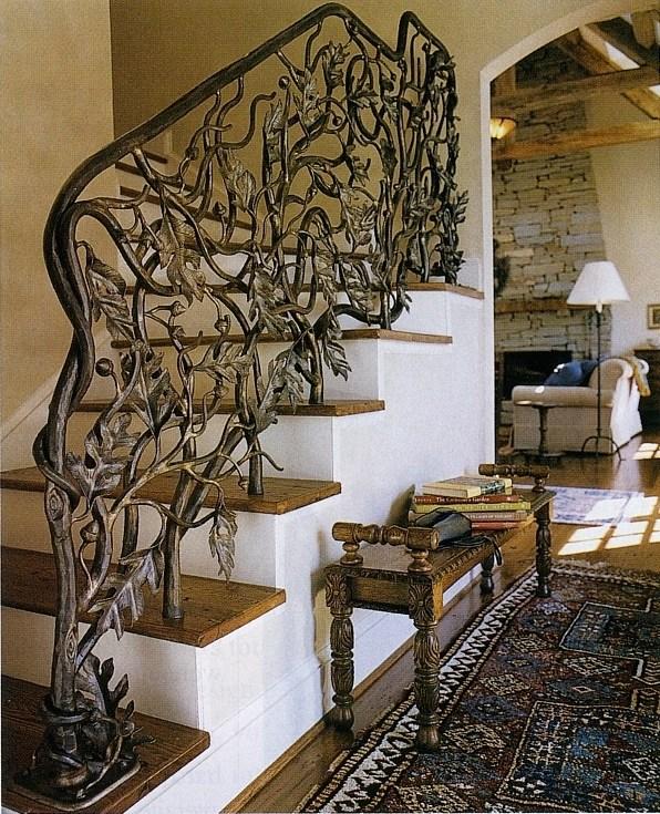 Metal Marshlands Custom Stairway Railings And More By John Boyd   Custom Iron Stair Railing   Residential   French   Metal   Banister   Iron Work