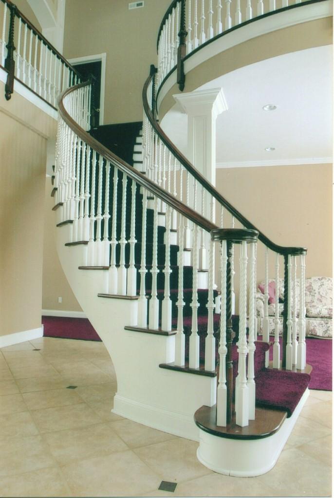 circular iron stairs