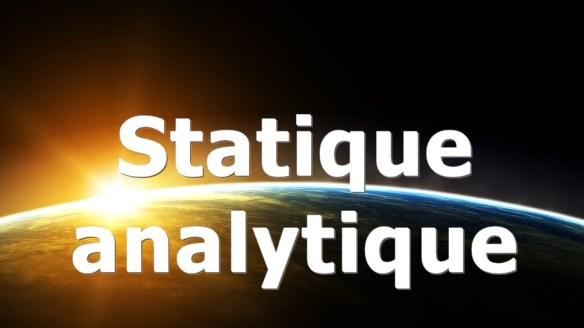Formation – Statique analytique