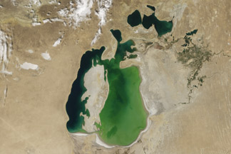 Shrinking Aral Sea:August 19, 2000