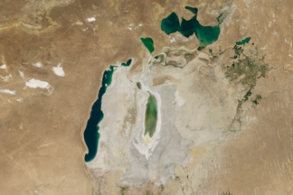 Shrinking Aral Sea:August 21, 2016