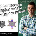 Formulaire: Comment calculer l'angle de rotation d'un moteur pas à pas?