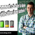 Formulaire – Comment calculer la durée d'utilisation d'une batterie ?