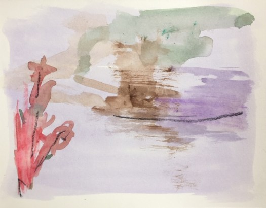 Marie G barbouillage aquarelle paysage