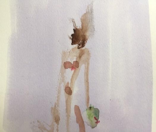 Marie G barbouillage 2 aquarelle