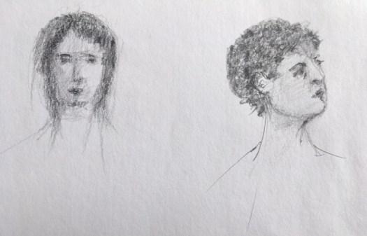 Crayonner, crayon sur papier, marie Gauthier