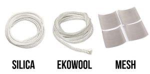 Mèches en Silica, Ekowool ou en Mesh