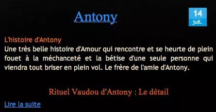 Cliquez & Découvrez le Témoignage Antony Sur Nathaniel Sorcier Vaudou Haïtien