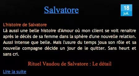 Témoignage Salvatore sur Nathaniel Sorcier
