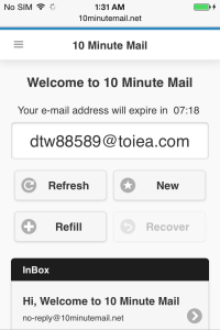 10 Minute Mail Mobile