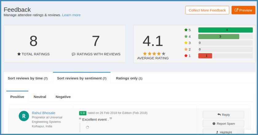 How to track feedbacks