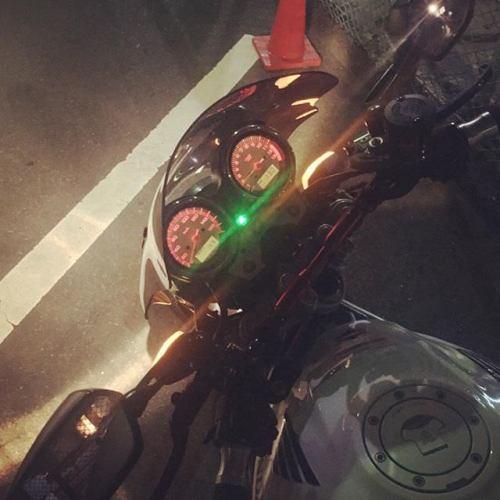 メチャクチャ寒いですやん! #バイク #ツーキン #東京 #tokyo #vtr #vtr250 # ホンダ # honda