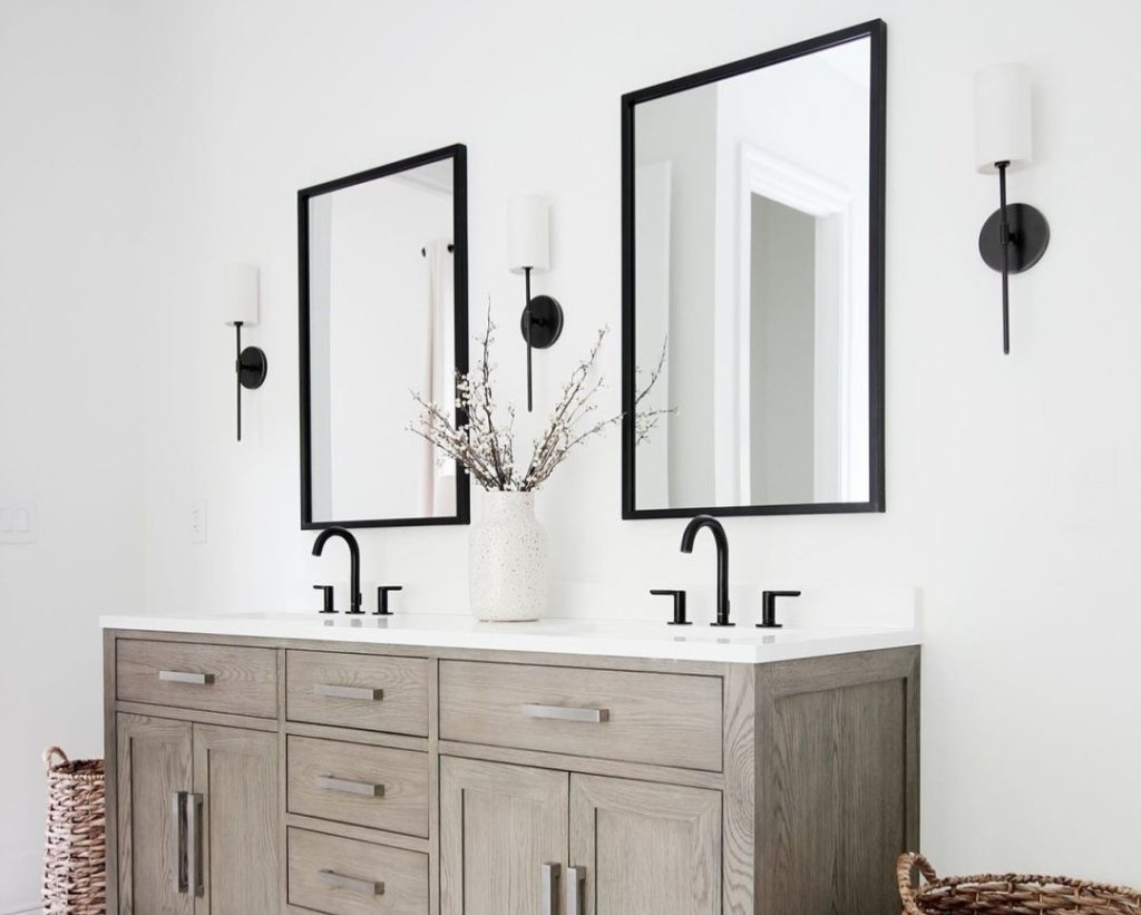 Best Height for Your Bathroom Wall Sconce I Capitol Lighting on Height Of Bathroom Sconce Lights id=25131