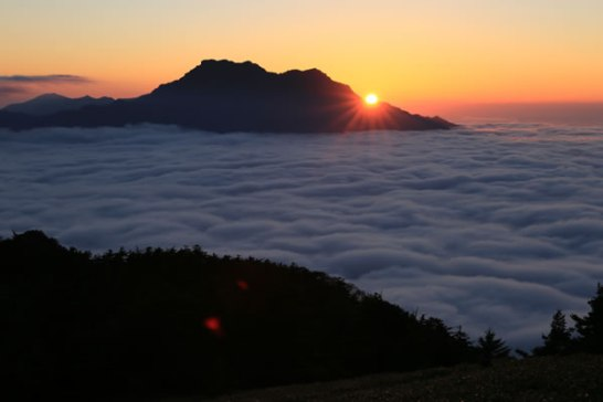 瓶ヶ森 石鎚山 雲海 登山 写真 景色 絶景
