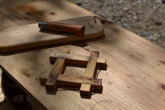 鍋敷き 木製 キャンプ ダッチオーブン敷き