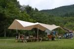 恒例の月一キャンプはいつもの甫喜ヶ峰森林公園へ変更!雨予報が的中!!