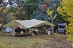 【高知でキャンプ】四万十川最大の中洲「三島キャンプ場」で紅葉キャンプ!!