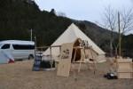 【高知でキャンプ】人生で初!テントに薪ストーブをinしてみました!!