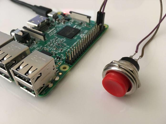 Raspberry con botón de apagado
