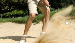 Stuck in sand trap