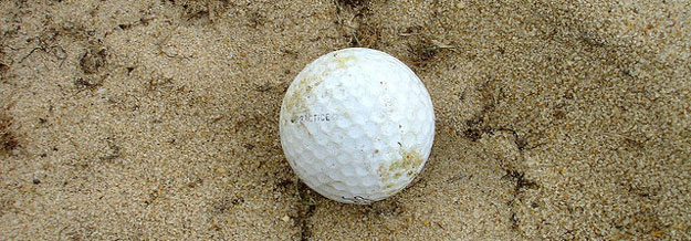 Golf sand bunkers