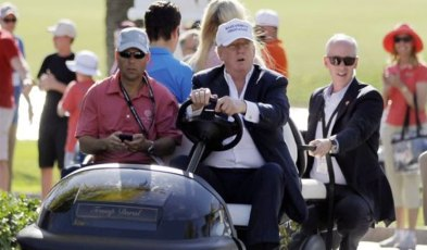 Trump on a Golf Cart