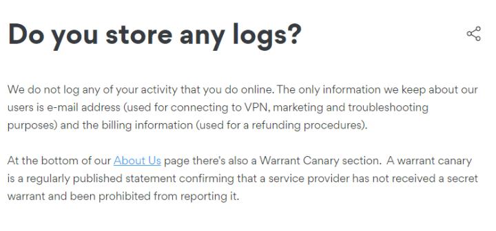 有關資料記錄及政府搜查令