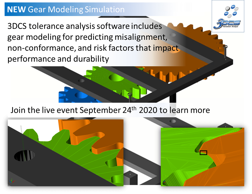 Tolerance Stack Up Simulation Now Includes Gear Modeling