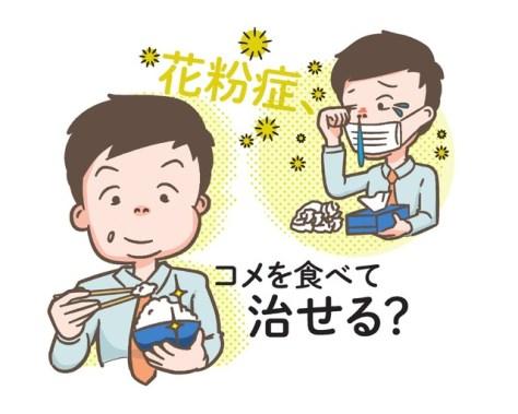 花粉症、コメを食べて治せる?