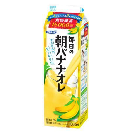 エルビーが自主回収すると発表した「毎日の朝バナナオレ」